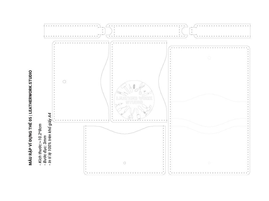 Mẫu rập ví đựng thẻ 05-Bản in PDF