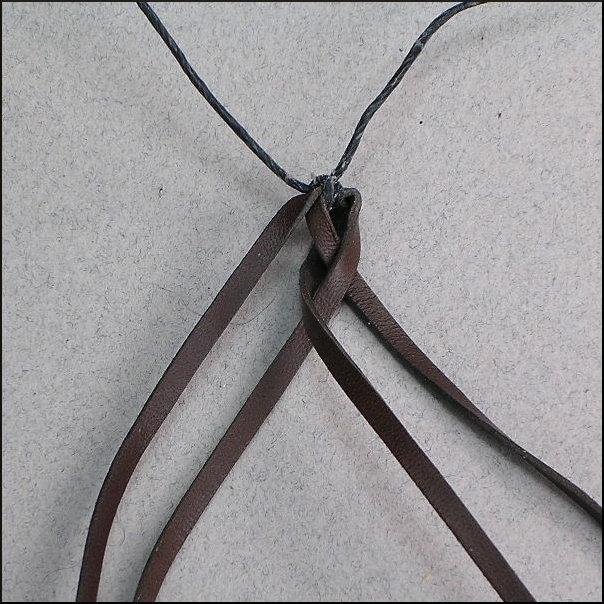 Hướng dẫn tết dây da 4 sợi